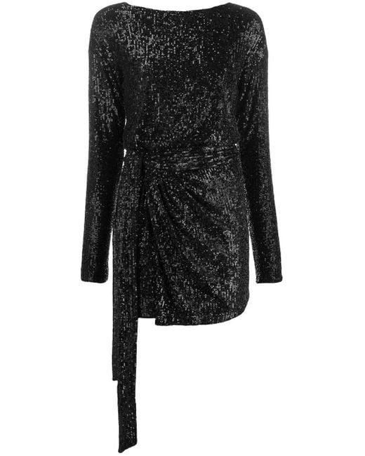 Платье С Пайетками Saint Laurent, цвет: Black