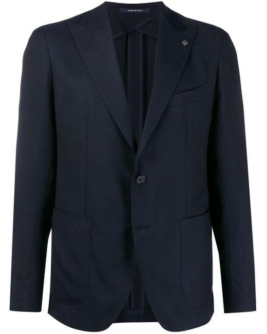 メンズ Tagliatore スリムフィット ジャケット Blue