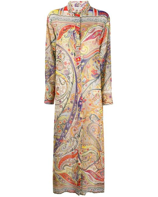 Etro ペイズリー シャツドレス Multicolor
