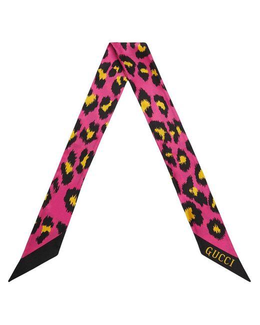 Gucci レオパード スカーフ Multicolor