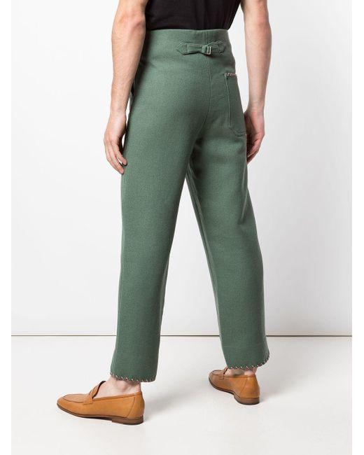 メンズ Bode ステッチ ストレートパンツ Green
