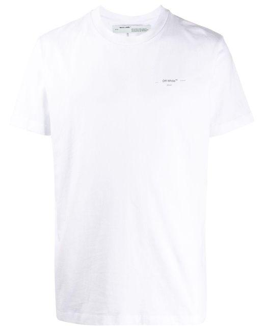 メンズ Off-White c/o Virgil Abloh アローロゴ Tシャツ White