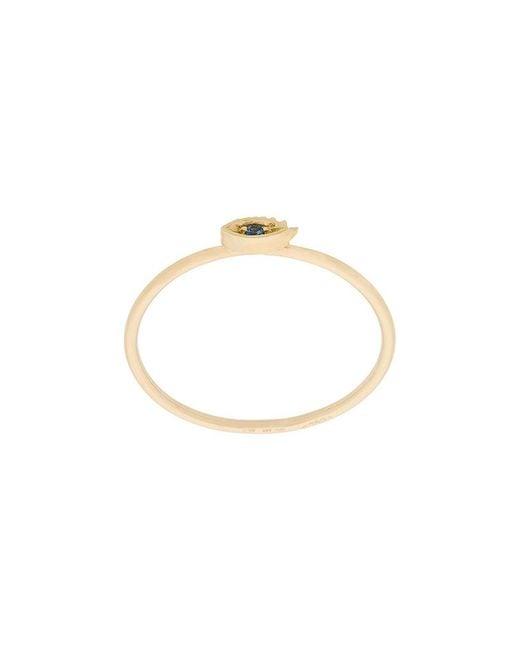 Delfina Delettrez - Metallic 18kt Rose Gold Micro Eye Ring - Lyst