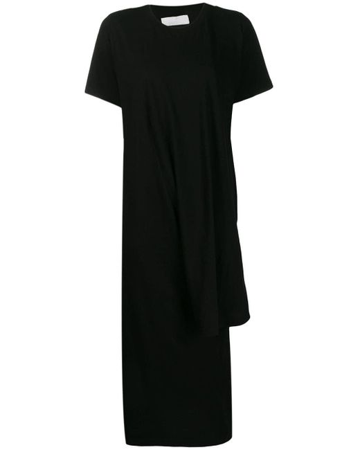MM6 by Maison Martin Margiela アシンメトリー Tシャツドレス Black