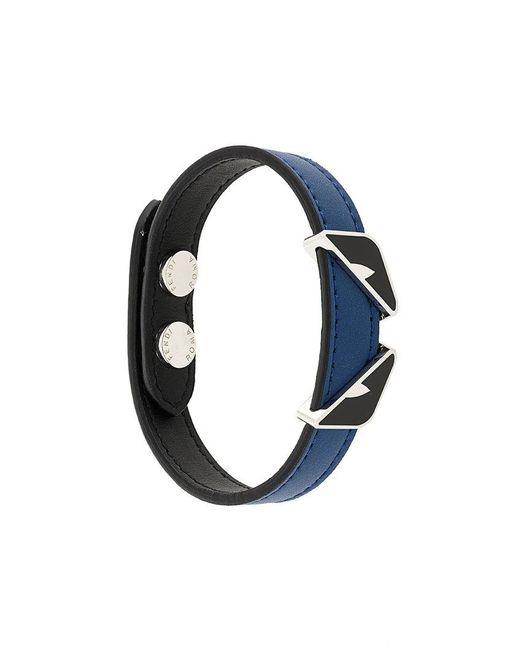 Fendi - Blue Faces Bracelet for Men - Lyst