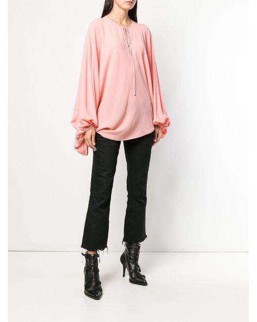 Alexander McQueen オーバーサイズ ブラウス Pink
