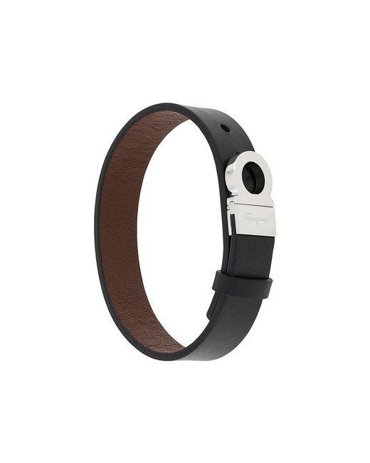Ferragamo - Black Gancini Closure Bracelet for Men - Lyst