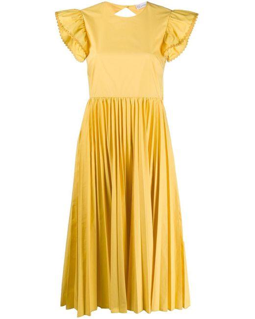 RED Valentino プリーツ ドレス Yellow