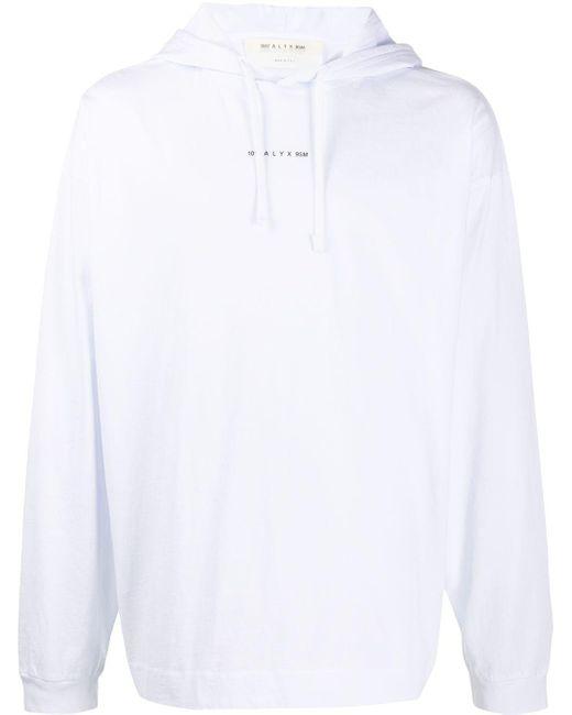 メンズ 1017 ALYX 9SM ロゴ パーカー White