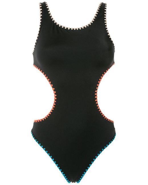 Costume intero con cut-out di Brigitte Bardot in Black