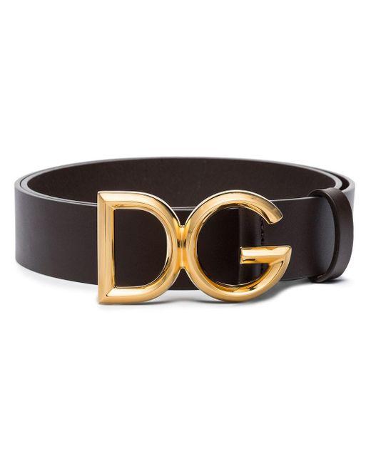 メンズ Dolce & Gabbana Dgバックル ベルト Brown