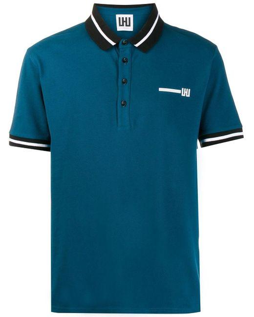 メンズ Les Hommes ロゴ ポロシャツ Blue