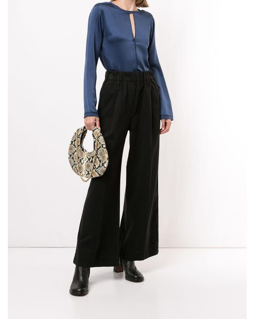 Forte Forte Blue Cut-out Longsleeved Blouse