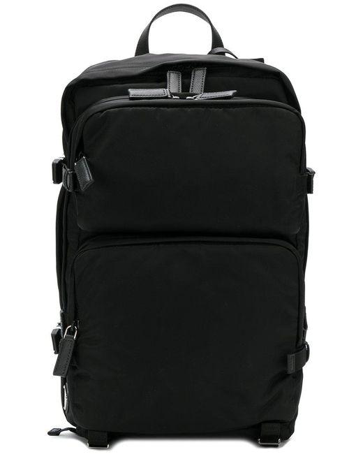 66965fec6639 Prada - Black Pocket Backpack for Men - Lyst ...