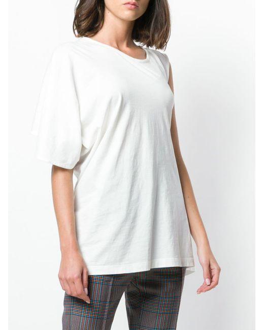 MM6 by Maison Martin Margiela アシンメトリー Tシャツ White