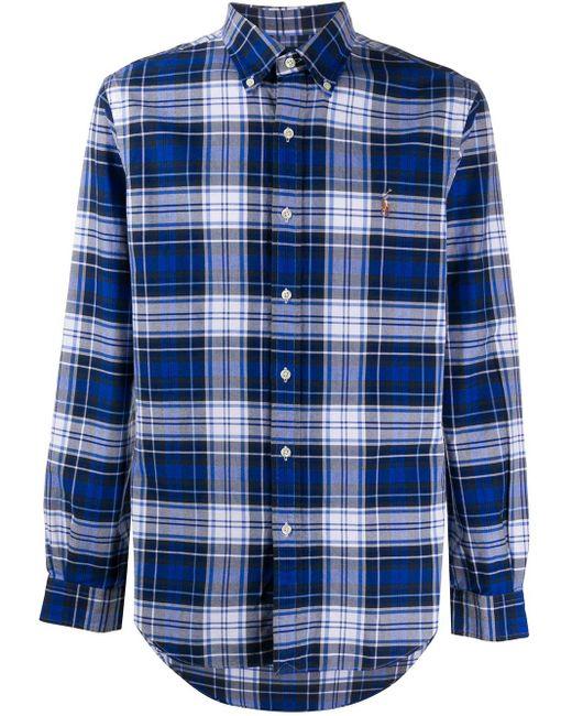 Рубашка В Клетку Polo Ralph Lauren для него, цвет: Blue