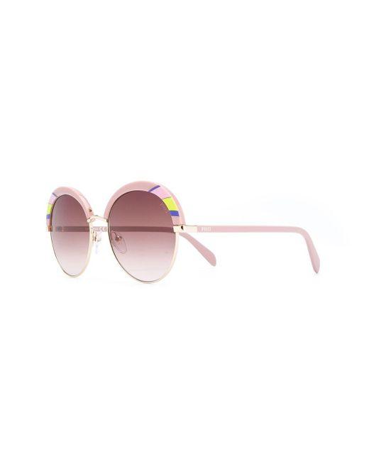 Солнцезащитные Очки В Круглой Оправе Emilio Pucci, цвет: Pink