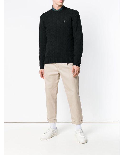 メンズ Polo Ralph Lauren ケーブルニット セーター Black