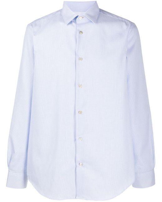 Клетчатая Рубашка Строгого Кроя Paul Smith для него, цвет: Blue
