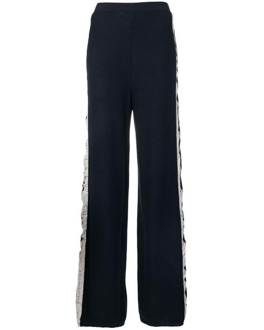 Stella McCartney ロゴストライプ パンツ Blue