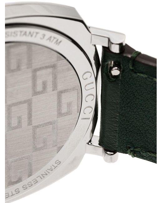 メンズ Gucci グッチ〔グリップ〕 ウォッチ(35 Mm) Green