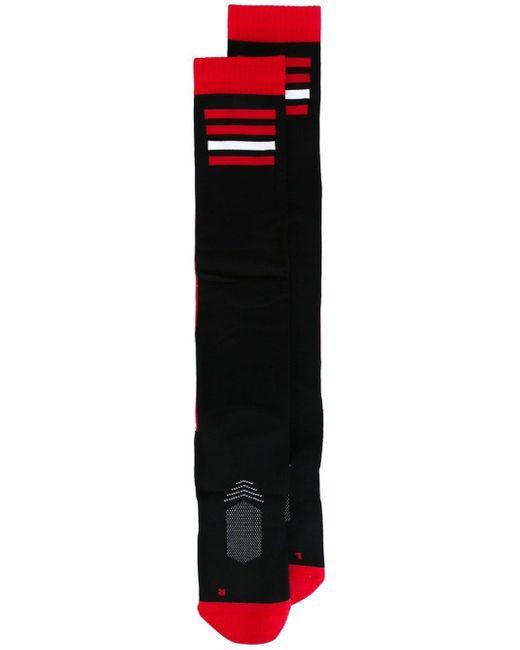 メンズ KTZ ボーダー柄パネル 靴下 Black