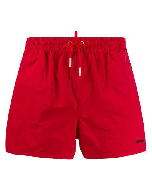 Costume da bagno Icon di DSquared² in Red da Uomo