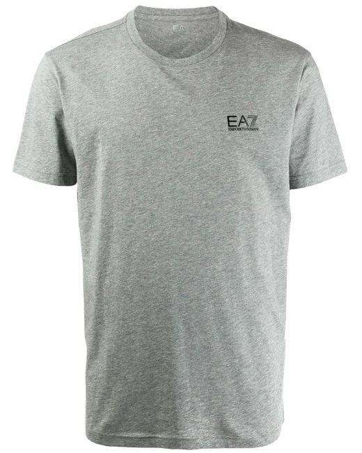メンズ EA7 ロゴ Tシャツ Gray