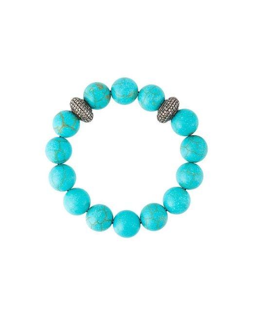 Gemco Blue Diamond Ball Bead Bracelet