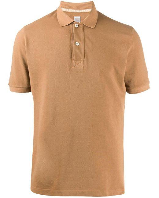 メンズ Eleventy スリムフィット ポロシャツ Brown
