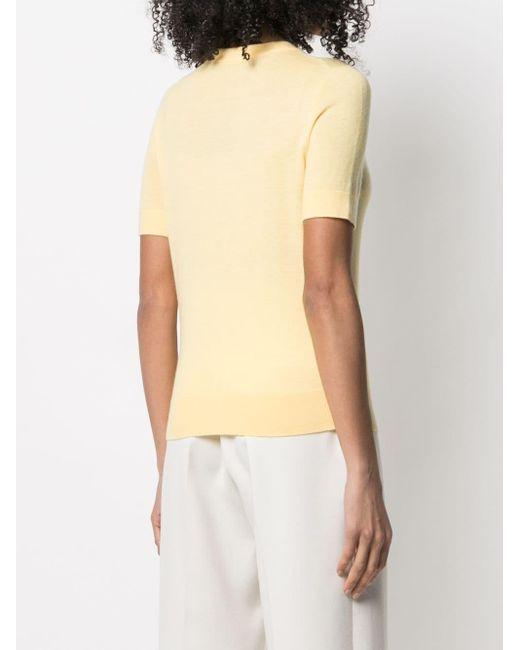 Zimmermann Yellow Lovestruck T-Shirt aus Kaschmir