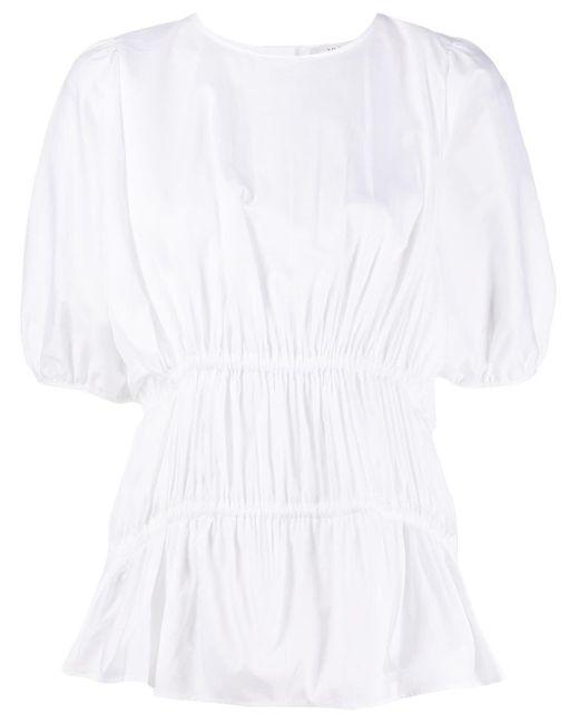 Блузка Со Сборками И Короткими Рукавами Victoria, Victoria Beckham, цвет: White