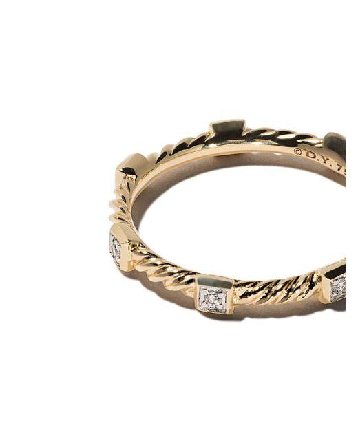David Yurman Cable Collectibles ダイヤモンド リング 18kイエローゴールド Multicolor