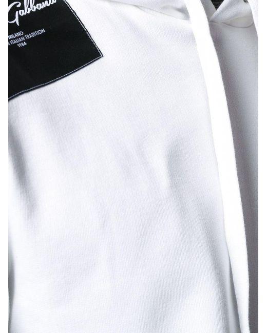 Худи С Нашивкой-логотипом Dolce & Gabbana для него, цвет: White