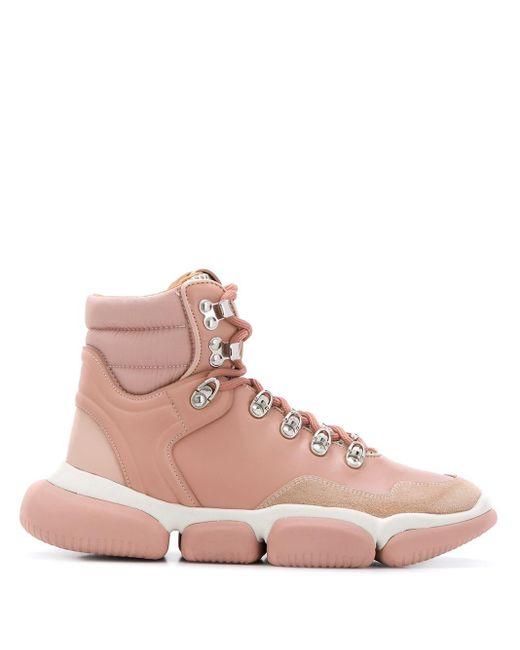 Moncler レースアップ スノーブーツ Pink