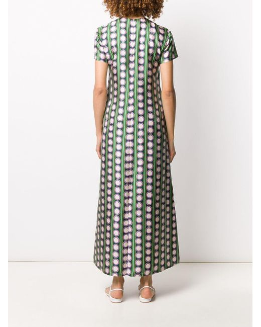 LaDoubleJ Green 'Swing Connect 4' Kleid mit Print