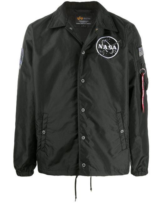 メンズ Alpha Industries Nasa ジャケット Black