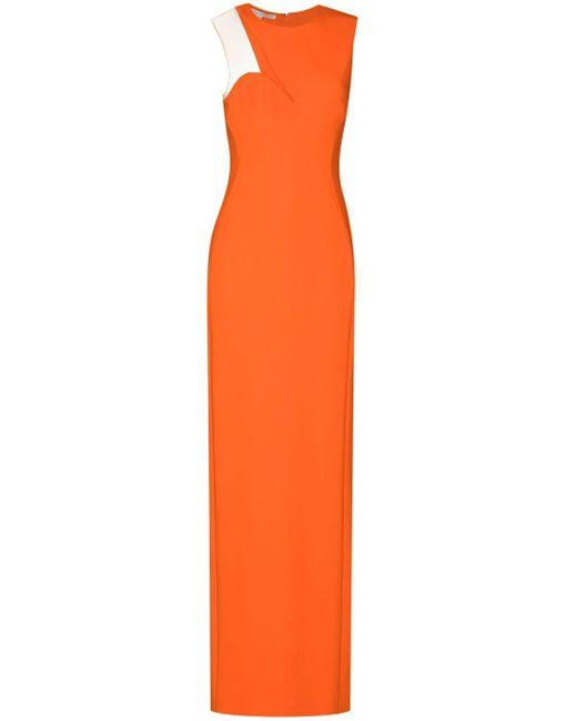 Stella McCartney Evelyn カットアウト ドレス Orange