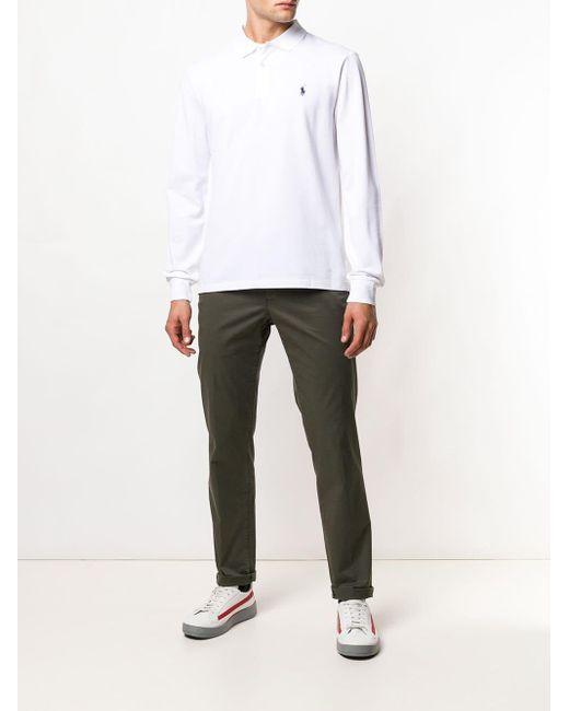 Polo Ralph Lauren Poloshirt mit aufgesticktem Logo in White für Herren