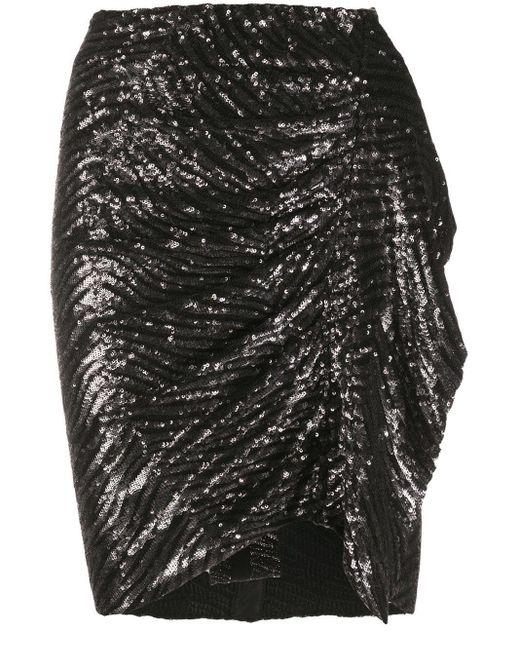 Minigonna con paillettes di IRO in Black