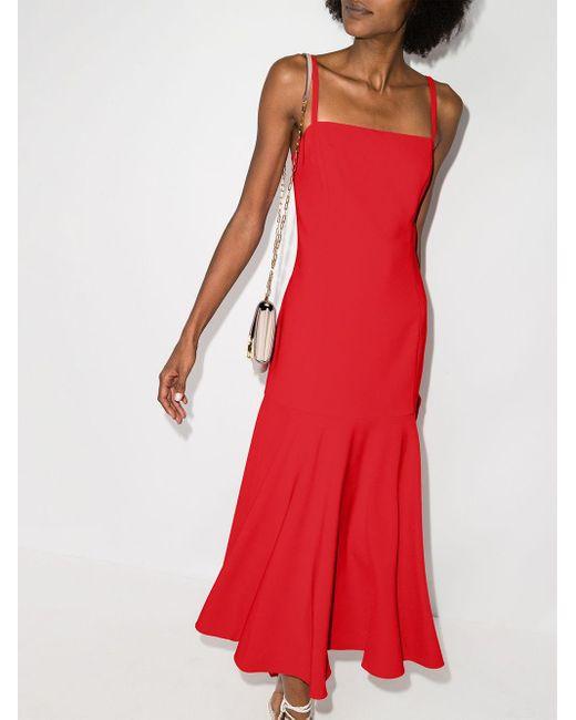 Carolina Herrera フレアドレス Red