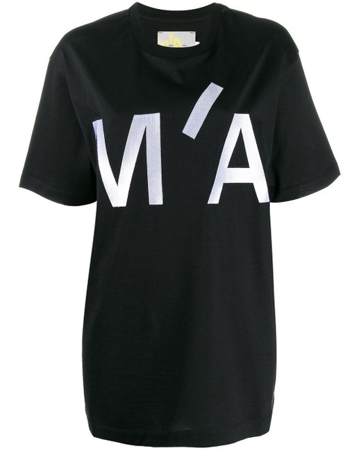 Marques'Almeida オーバーサイズ ロゴ Tシャツ Black