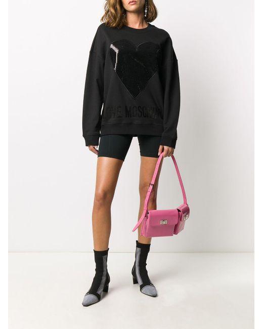 Love Moschino ハート スウェットシャツ Black