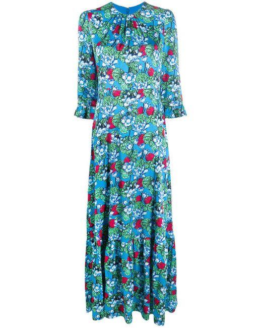 Mary Katrantzou フローラル ドレス Blue