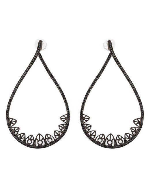 Joelle Jewellery | Black Gothic Teardrop Diamond Earrings | Lyst