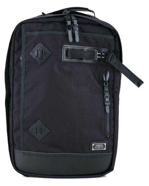 As2ov Rucksack mit kastigem Design in Black für Herren