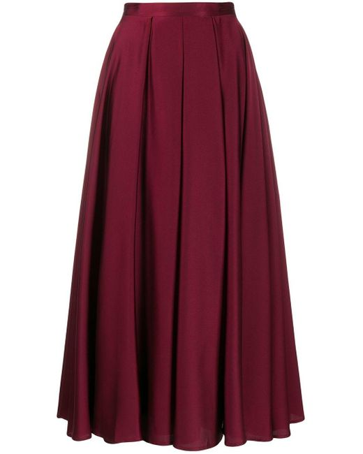 Blanca Vita Aライン プリーツスカート Purple