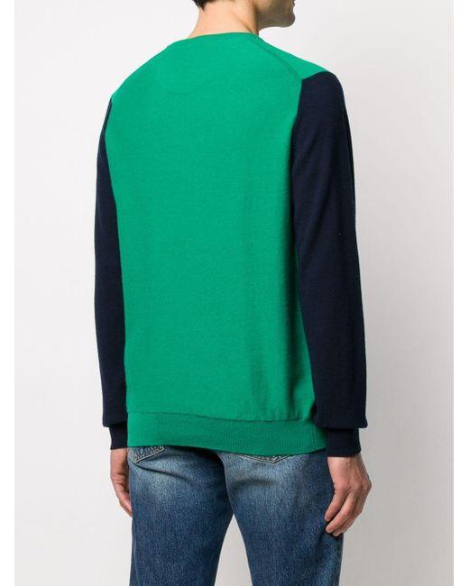 メンズ Pringle of Scotland カシミア カラーブロック セーター Green