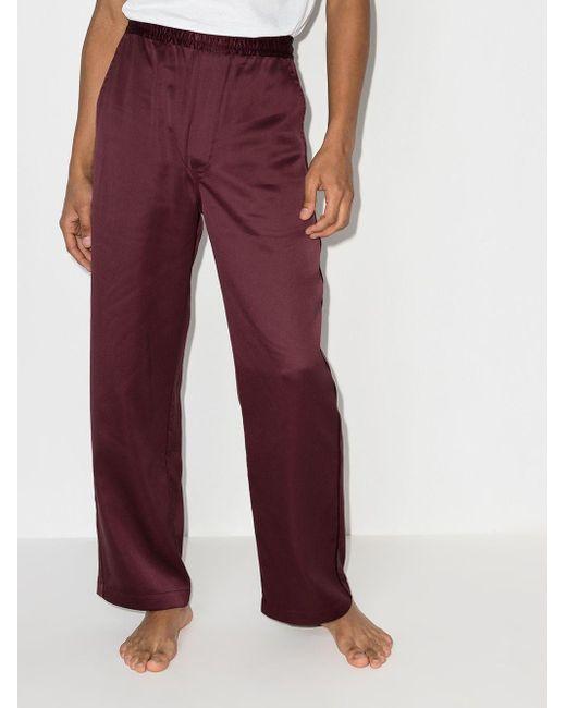 メンズ CDLP Home パジャマパンツ Red
