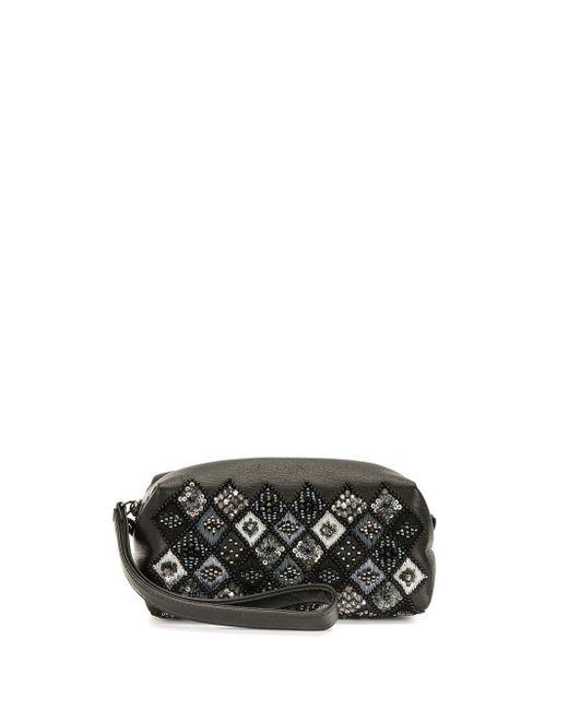 Bolso de mano con bordado Discord Yohji Yamamoto de color Black